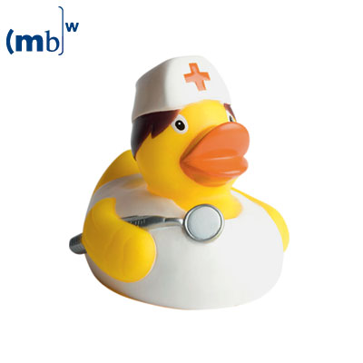 Nurse  squeaking duck