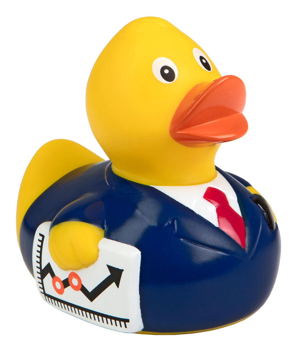 squeaky duck businessman