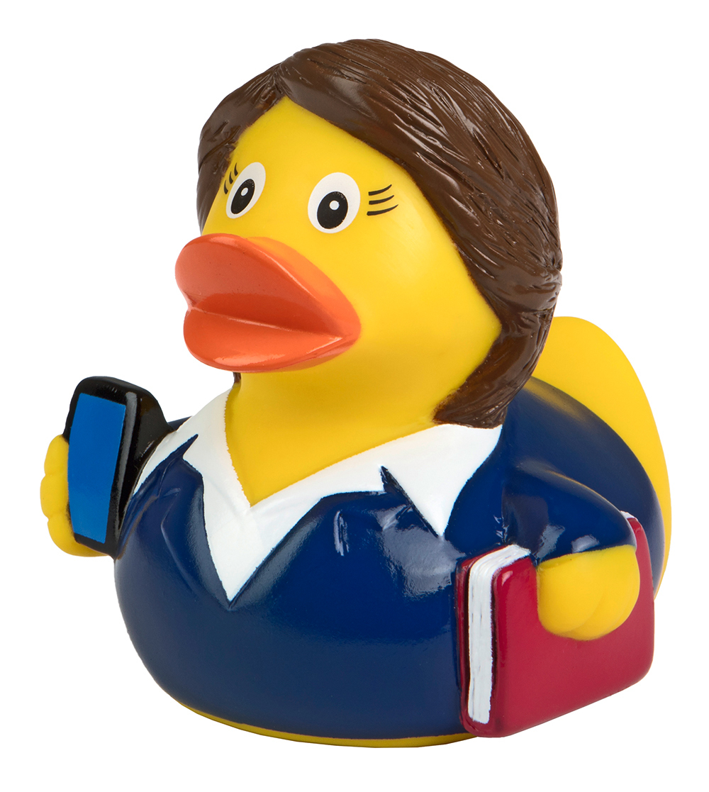 squeaky duck businesswoman