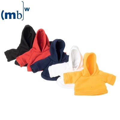 Mini-sweat shirt with cowl yellow