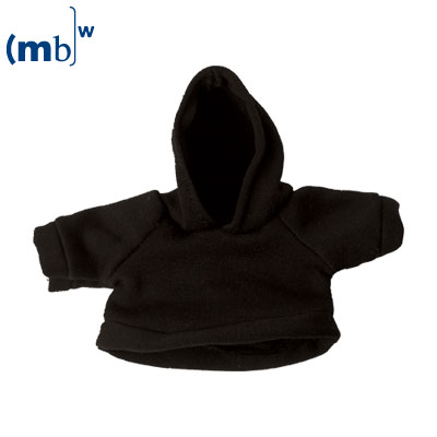 Mini-sweat shirt with cowl black