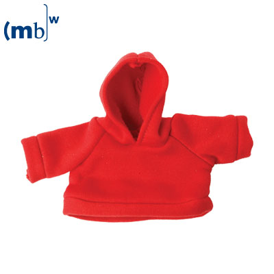 Mini-sweat shirt with cowl red