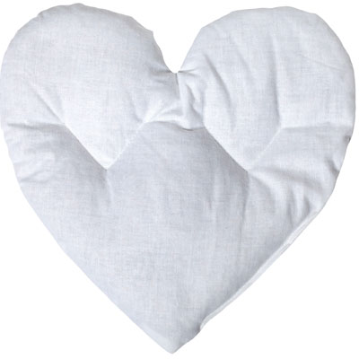 grain pillow heart, nature warming pillow heart