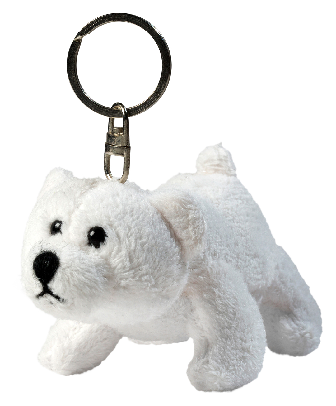 plush polar bear Freddy with key chain