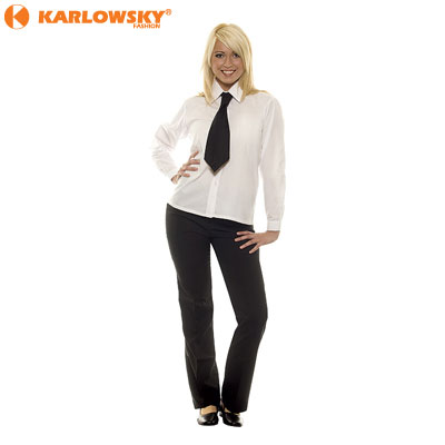 Ladies long sleeve blouse - Basic - white